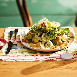 Fennel and Potato Salad, Roasted Leeks and Crispy Chickpeas Recipe
