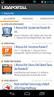 Screenshot of Ligaportal Fußball Live-Ticker