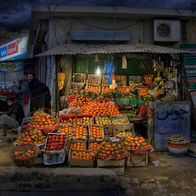 Fresh Fruits for sale by Mohammed Omer - City,  Street & Park  Markets & Shops ( shop, pakistan, fruits, night, light )