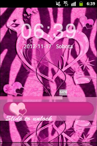 GO Locker Pink Zebra Heart- screenshot