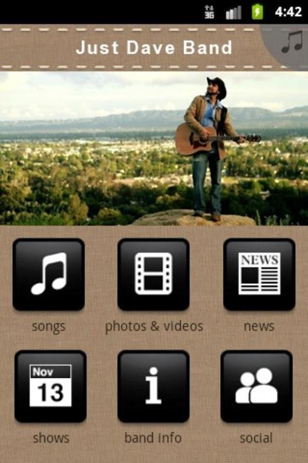 Just Dave Band - screenshot