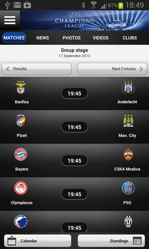 UEFA.com full edition - screenshot