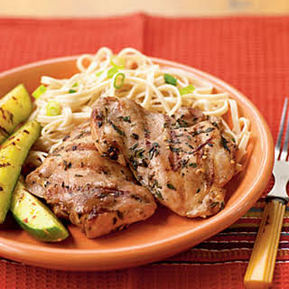 Soy-Marinated Chicken Thighs.