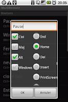 Screenshot of MultiRemote