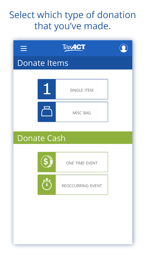 Donation Assistant by TaxACT - screenshot