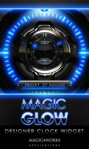 Glow Magic Clock Widget