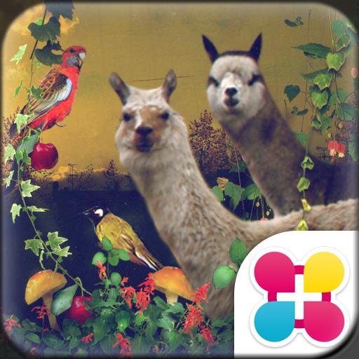 アルパカの壁紙 animal collage Icon