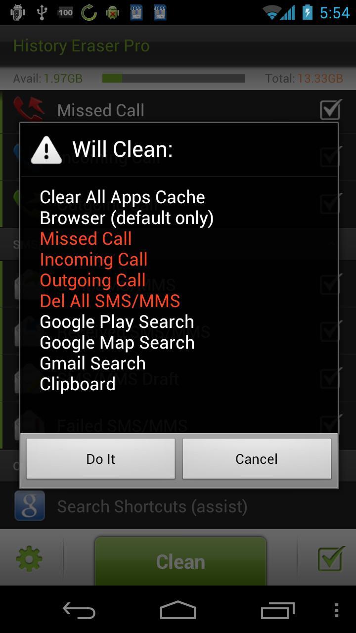 History Eraser Pro - Clean up Screenshot 2