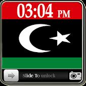 Libya Flag Slide Lock