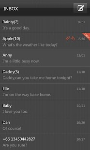 GO SMS Pro Black Texture Theme - screenshot thumbnail