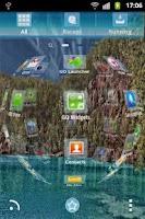 Screenshot of GO Launcher EX Theme Blue Lake