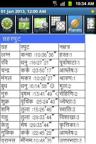 Horoscope Hindi (Supersoft Prophet)  screenshots 4