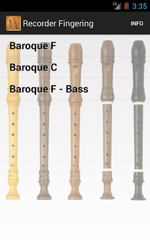 Recorder Fingering