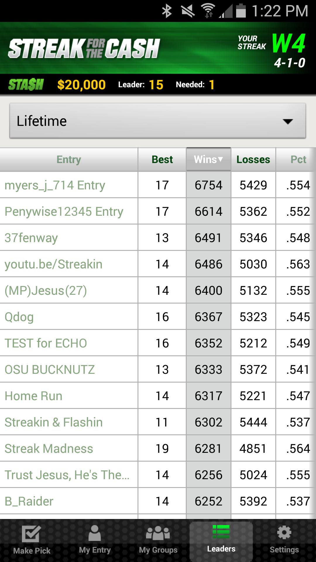 ESPN Streak For The Cash screenshot #7