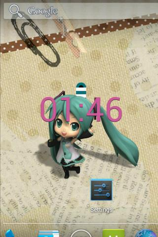 HatsuneMiku ClockLiveWallpaper