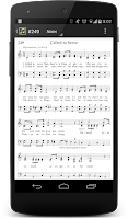 Screenshot of LDS Hymns with Notes