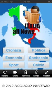 ITALIA all News - screenshot thumbnail