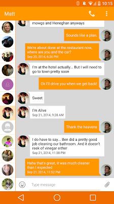 EvolveSMS orange theme - screenshot