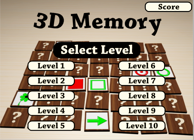 3DMemory - screenshot