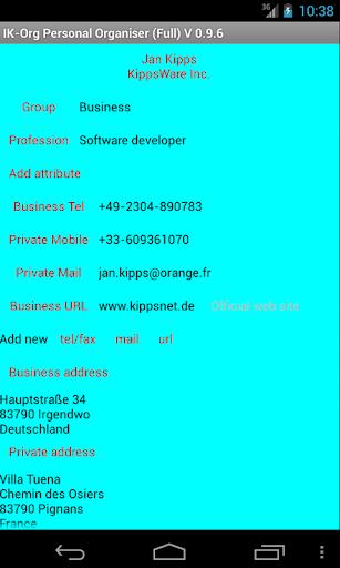 IK-OrgF Free Organizer