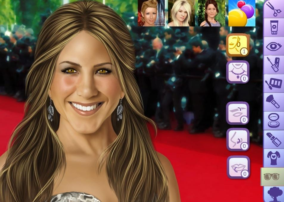 Jennifer Aniston Make Up Game - screenshot