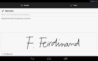 Screenshot of i-net HelpDesk Mobile
