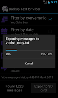 Screenshot of Backup Text for Viber