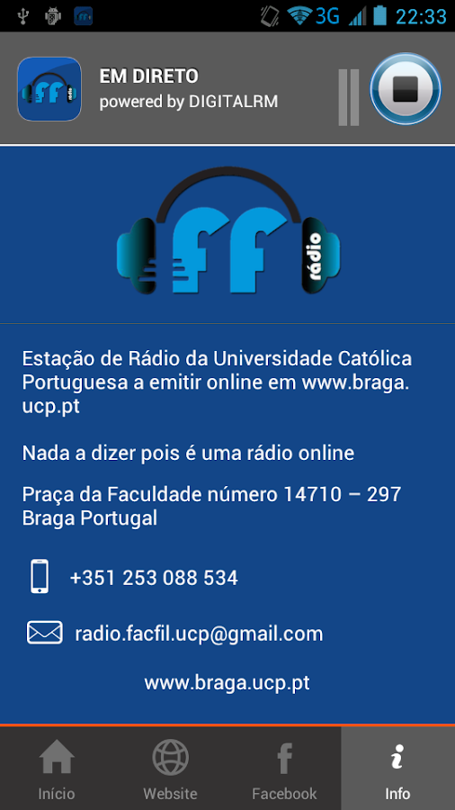 Rádio Facfil- screenshot