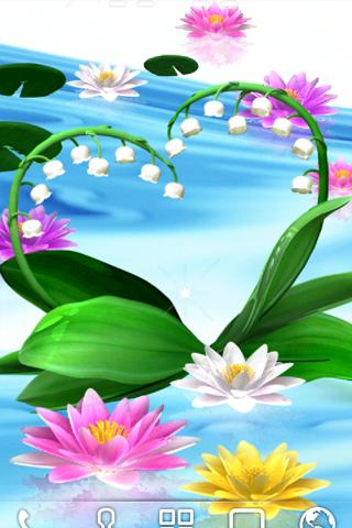 Water Lily Bell LiveWallpaper- screenshot