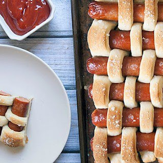 Pretzel Woven Hot Dogs