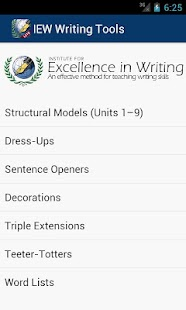 IEW Writing Tools - screenshot thumbnail