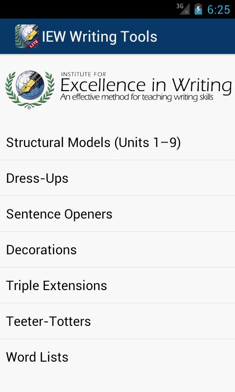 IEW Writing Tools - screenshot