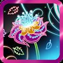 Neon Flowers Live Wallpaper HD icon