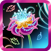 Neon Flowers Live Wallpaper HD