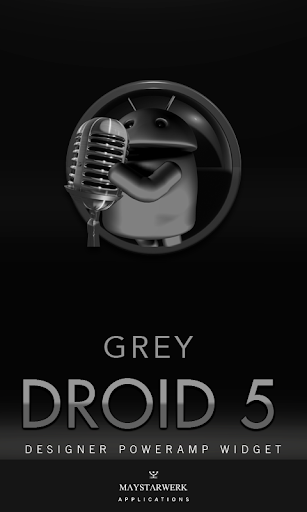 Poweramp Widget Grey Droid 5