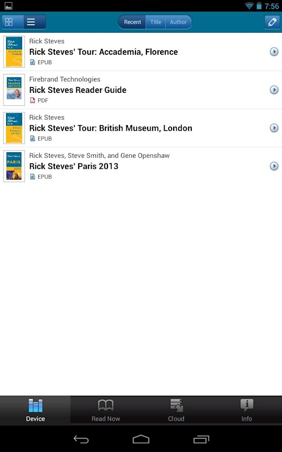 Rick Steves' Reader- screenshot