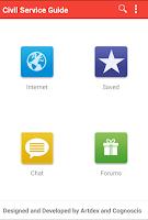 Screenshot of Civil Service Guide