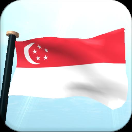 Singapore Flag 3D Free