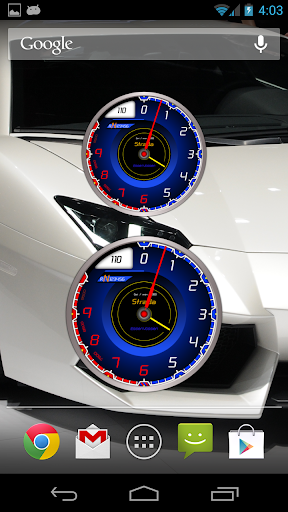 Car Tachometer Analog Clock