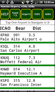 VFR GPS Airplane Navigation Screenshot