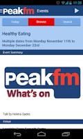 Screenshot of Peak FM Radio