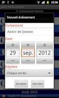 Screenshot of Jours Feries France 2015/16