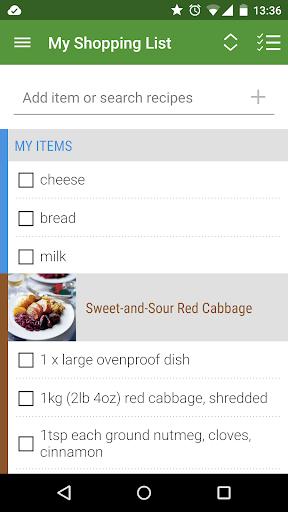 Whisk Recipes Shopping List