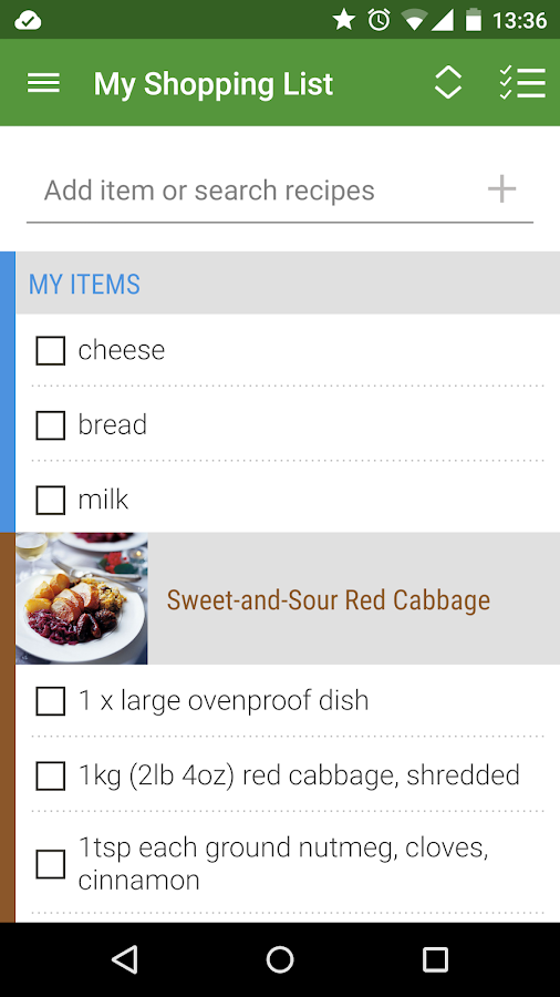 Whisk Recipes & Shopping List- screenshot