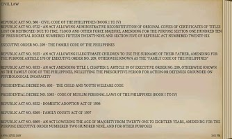 Screenshot of PHILIPPINE CIVIL LAWS