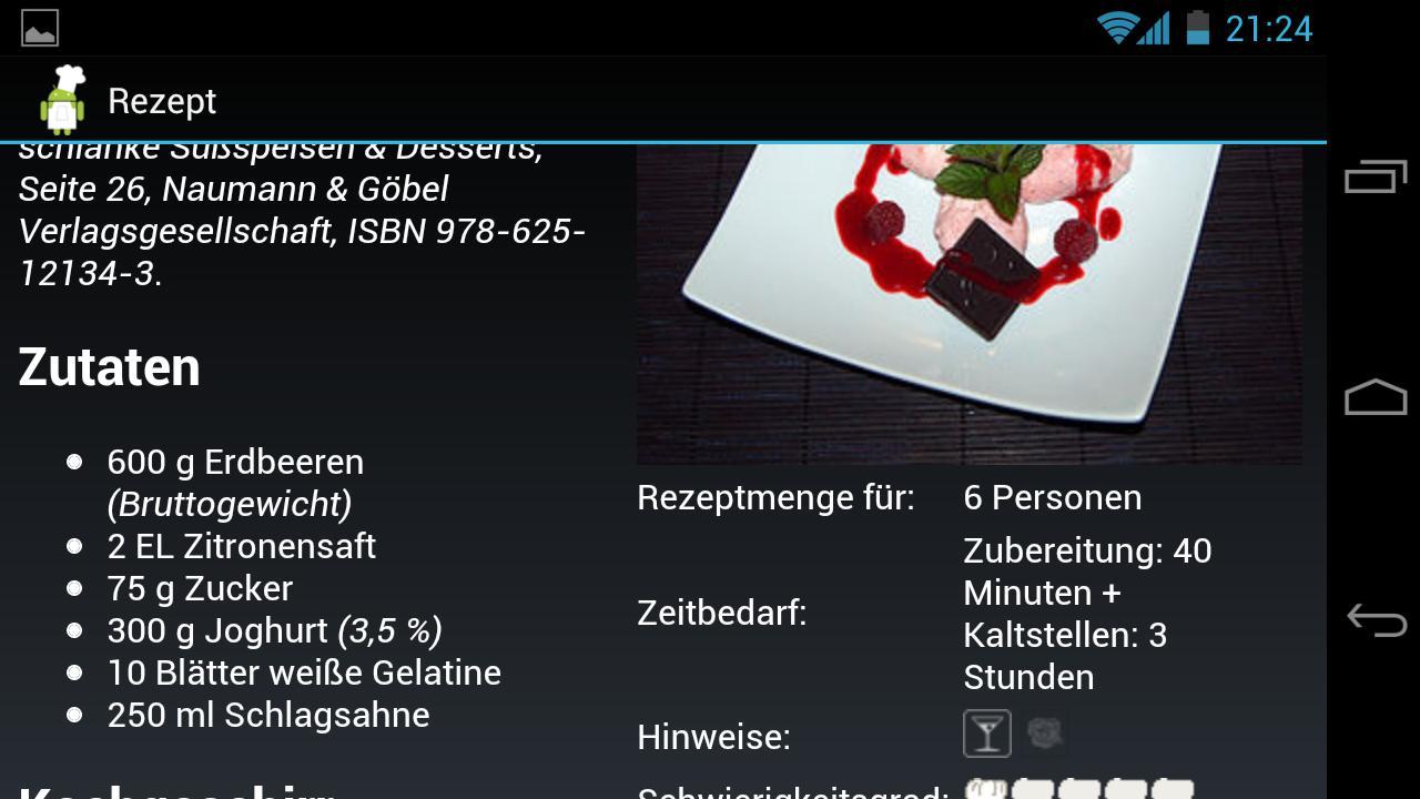 Koch Droid Rezepte- screenshot