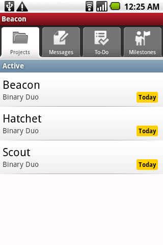 Beacon (for Basecamp Classic) - screenshot