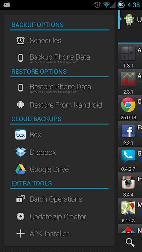 ROM Toolbox Pro apk options
