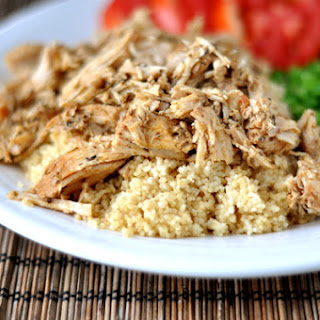 Mediterranean Pork with Couscous {Slow Cooker}.