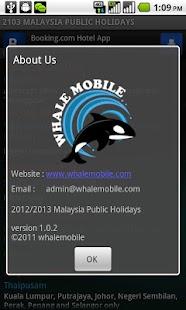 Malaysia Public Holidays 2015 - screenshot thumbnail